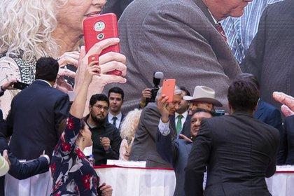 Andrés Manuel López Obrador fue el invitado de honor (Foto: Juan Vicente Manrique/Infobae)