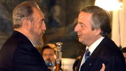 Néstor Kirchner y Fidel Castro en Buenos Aires