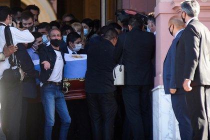 El Diez fue velado en Casa Rosada (REUTERS / Martin Villar)