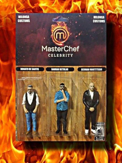 """Del """"atendedor de boludos"""" a Ricardo Fort o Mauro Viale: la historia detrás de los muñecos del jurado de Masterchef Celebrity"""