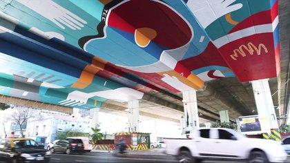 Bajo autopista – Au. 25 de Mayo y Av. La Plata – Artista: TEC
