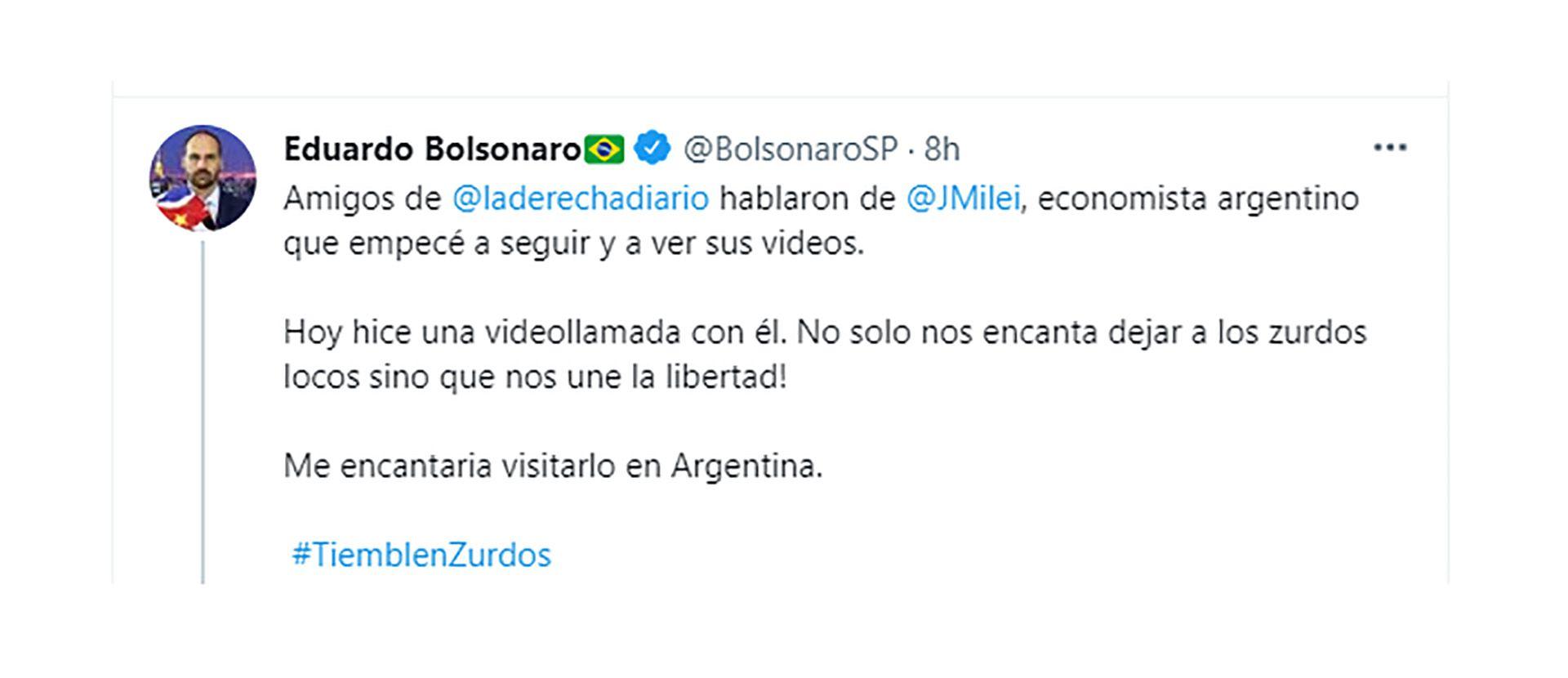 eduardo bolsonaro javier milei