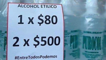 Un comercio en Boedo desalentó el acopio de alcohol con un original mensaje de venta