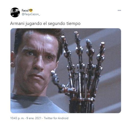 memes River independiente Franco Armani