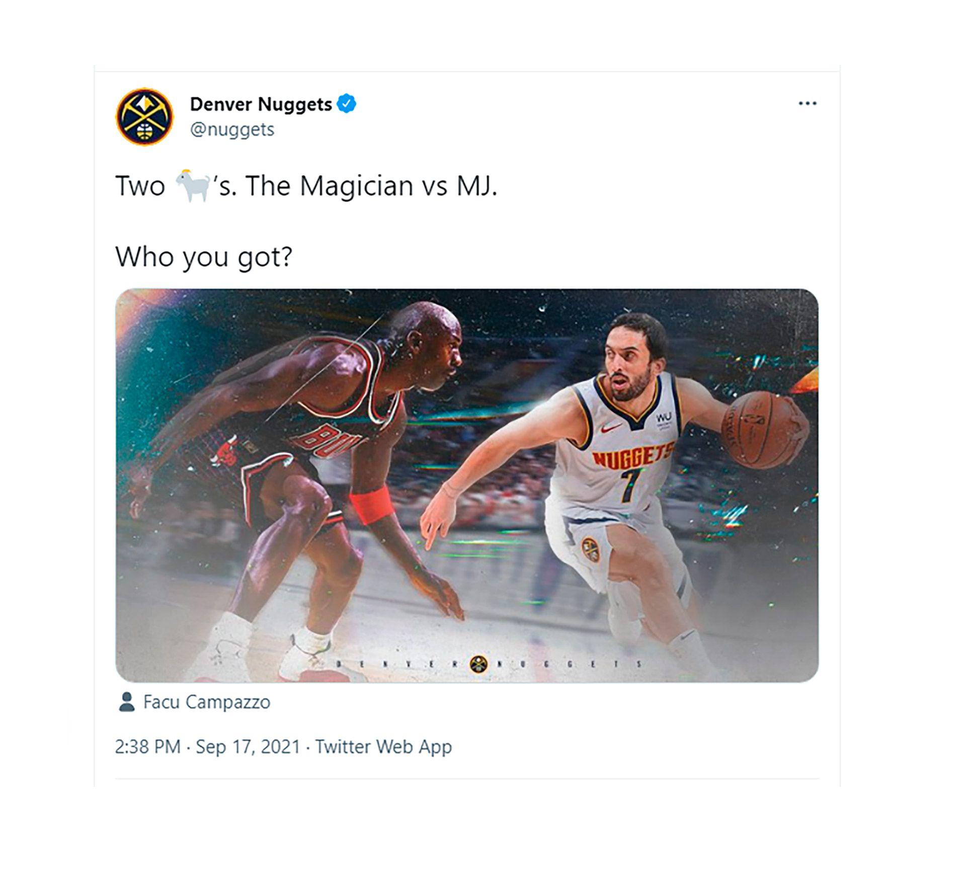 tuit Nuggets - Campazzo - MIchael Jordan