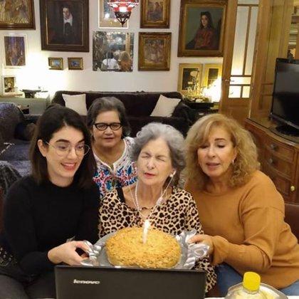 Susana festejó su cumpleaños número 91 en familia (Foto: Instagram)
