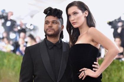 The Weeknd y Bella Hadid en la MET GALA a principios de 2016 (Mike Coppola – Getty Images)