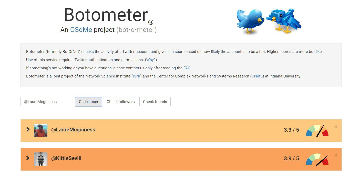 Botometer es una herramienta que ayuda a identificar bots en Twitter.