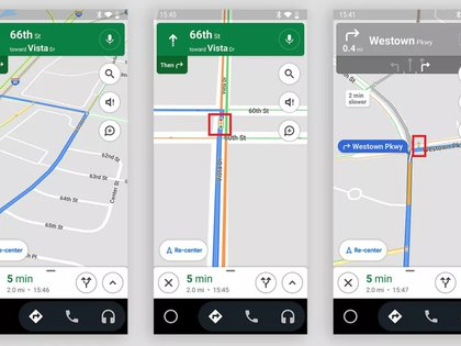 semáforos en Google Maps (Droid Life)