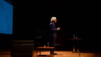 Pinker mantuvo, por la tarde, una reunión con el presidente Macri en Casa Rosada (Julieta Ferrario)