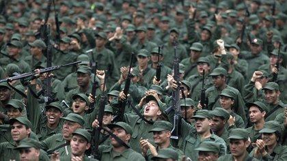 Juramentación de las Milicias Bolivarianas (AP/Archivo)