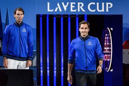 (AFP) Rafael Nadal y Roger Federer integraron el equipo de Europa