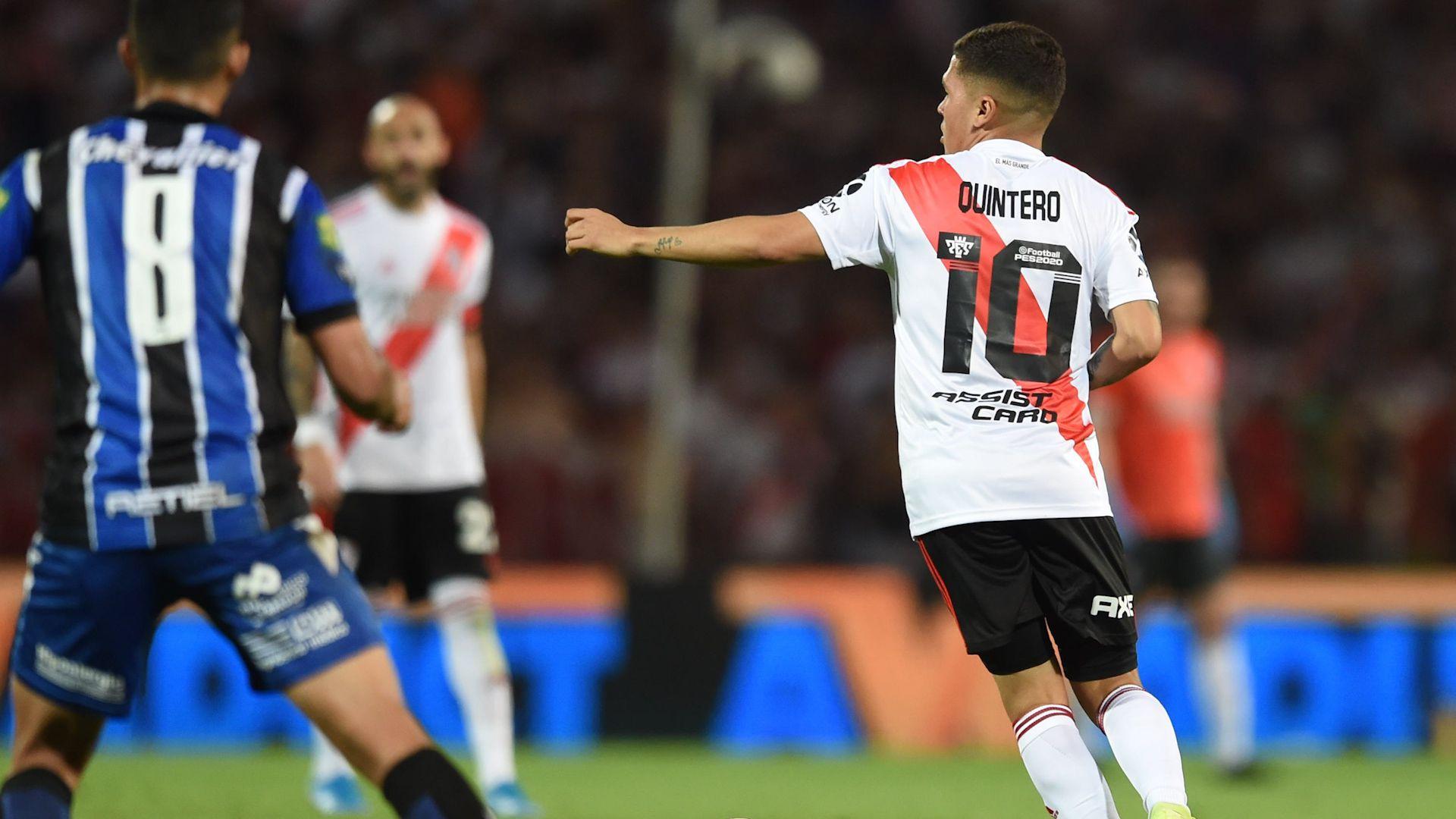 Quintero volvió a las canchas tras casi siete meses de recuperación (@RiverPlate)
