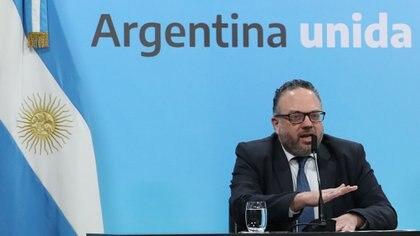 EL ministro de Desarrollo Productivo, Matías Kulfas, dialogó con empresarios de Amcham durante una hora