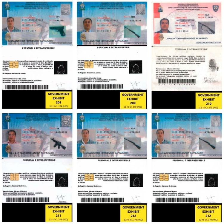 Licencias para portar armas registradas por Tony que fueron incautadas el día de arrestarlo y fueron presentadas como prueba por parte de los fiscales en EEUU