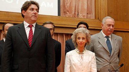 Juan Carlos Gemignani, al momento de jurar como juez de Casación