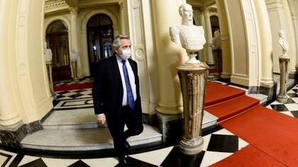 Ayer, el Presidente estuvo por segundo día consecutivo en la Casa Rosada, retomando su lugar de trabajo.