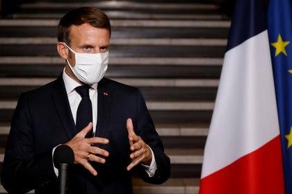 Emmanuel Macron, presidente de Francia (Ludovic Marin/Pool via REUTERS)
