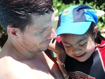 Con papá Gustavo
