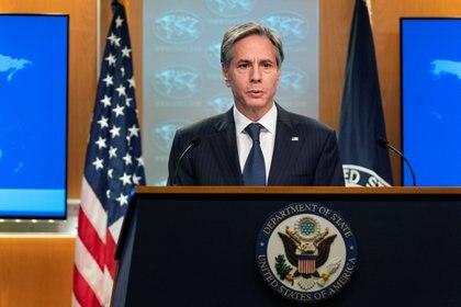 Antony Blinken, secretario de Estado norteamericano (Manuel Balce Ceneta/Pool via REUTERS)