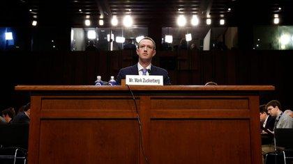 Mark Zuckerberg ante el Congreso de los EEUU (Reuters)