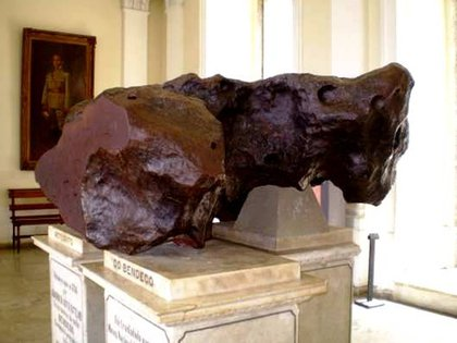 El Bendegó, el meteorito más famoso de Brasil (Museo Nacional de Río de Janeiro)