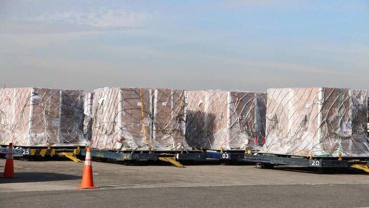 El primer cargamento enviado por EEUU ya se encuentra en Cúcuta (EFE)