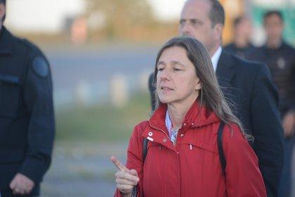 Sabina Frederic apareció en escena en la mañana del jueves para demostrar su arrepentimiento por los términos utilizados durante la videoconferencia (aglaplata)