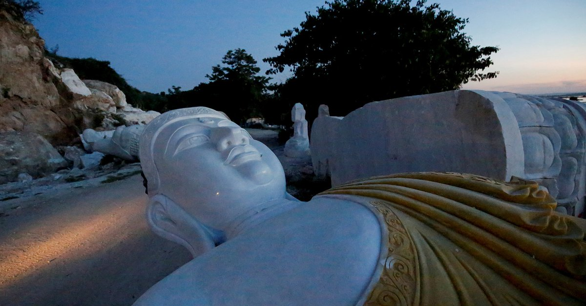 Myanmar builds the largest marble Buddha in the world