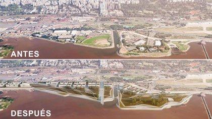 De aprobarse el proyecto urbanístico, la Ciudad de Buenos Aires cambiará su paisaje en la Costanera norte