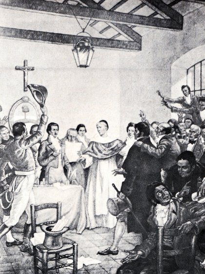 Laprida preside la histórica sesión del 9 de Julio de 1816