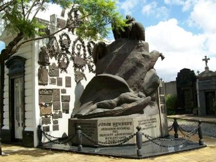 El aviador Jorge Newbery (1875-1914) también descansa en la Chacarita