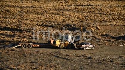 La semana pasada se hicieron excavaciones en una estancia de Lázaro Báez, en Santa Cruz