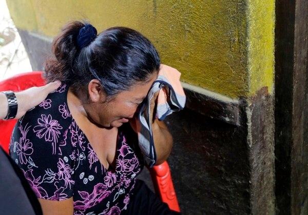 Una mujer llora la muerte de su hijo, que recibió un disparo durante las protestas en León (Nicaragua) (Inti Ocon/AFP/Getty Images)