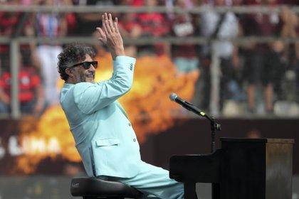 El cantante recibió la nominación a Mejor álbum de rock o alternativo latino (AP Photo/Fernando Vergara)