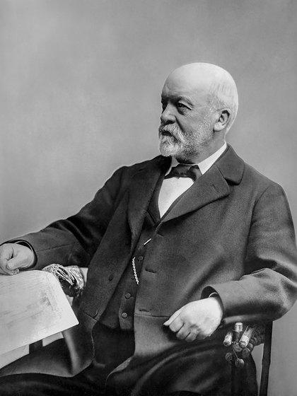 Götlieb Daimler, en una de sus imágenes más conocidas. Murió en 1900 a los 64 años.