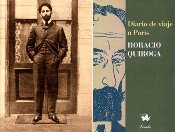 Un joven Quiroga en Salto y su libro de viaje a París