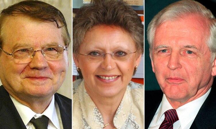 Luc Montagnier, Françoise Barré-Sinoussi y el alemán Harald zur Hausen fueron galardonados con el Premio Nobel de Medicina 2008 por sus hallazgos sobre el virus del VIH