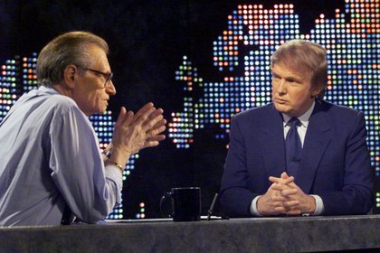 Junto a Donald Trump en 1999 (REUTERS)