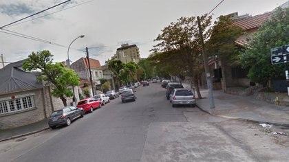 La esquina de Córdoba y Garay: aquí pidió ayuda.