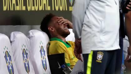 Neymar se lesionó este miércoles en un amistoso ante Qatar y se perderá la Copa América (Reuters)