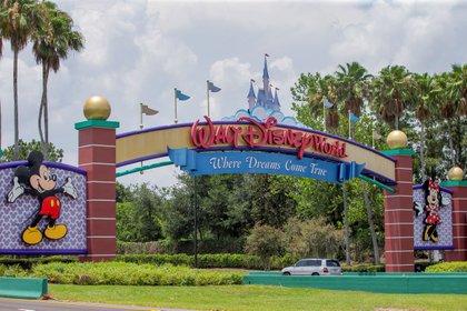 La entrada principal al parque temático de Walt Disney World en Orlando, Florida (EFE/EPA/ERIK S. LESSER/Archivo)