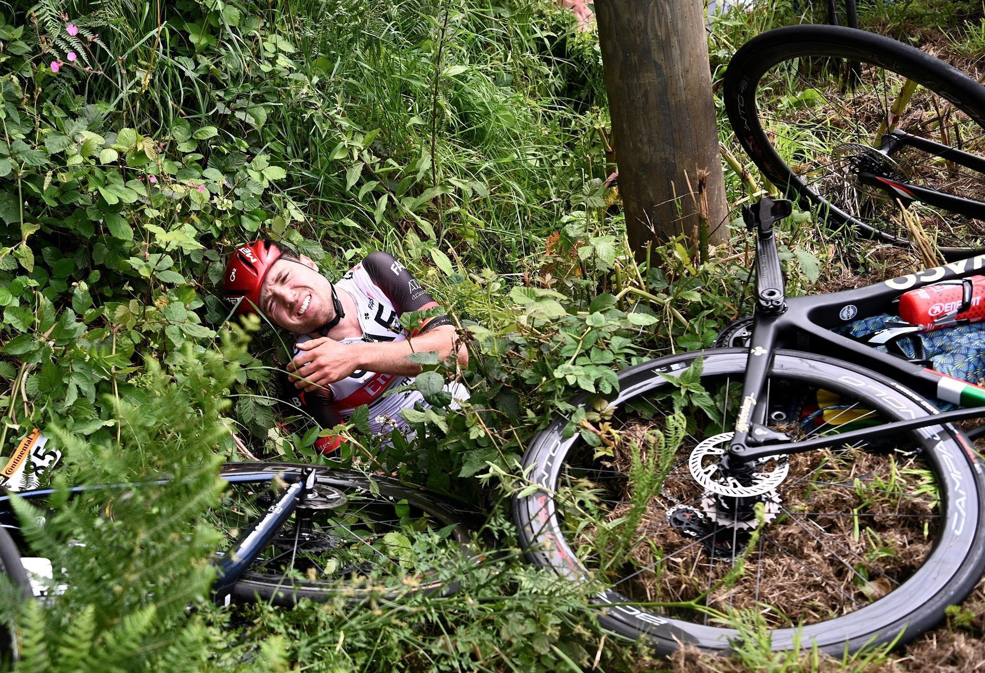 Accidente en el Tour de France