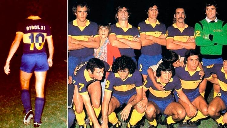 La camiseta de Boca con la que afrontó la ida de la Copa Intercontinental 1977 ante Borussia Monchengladbach