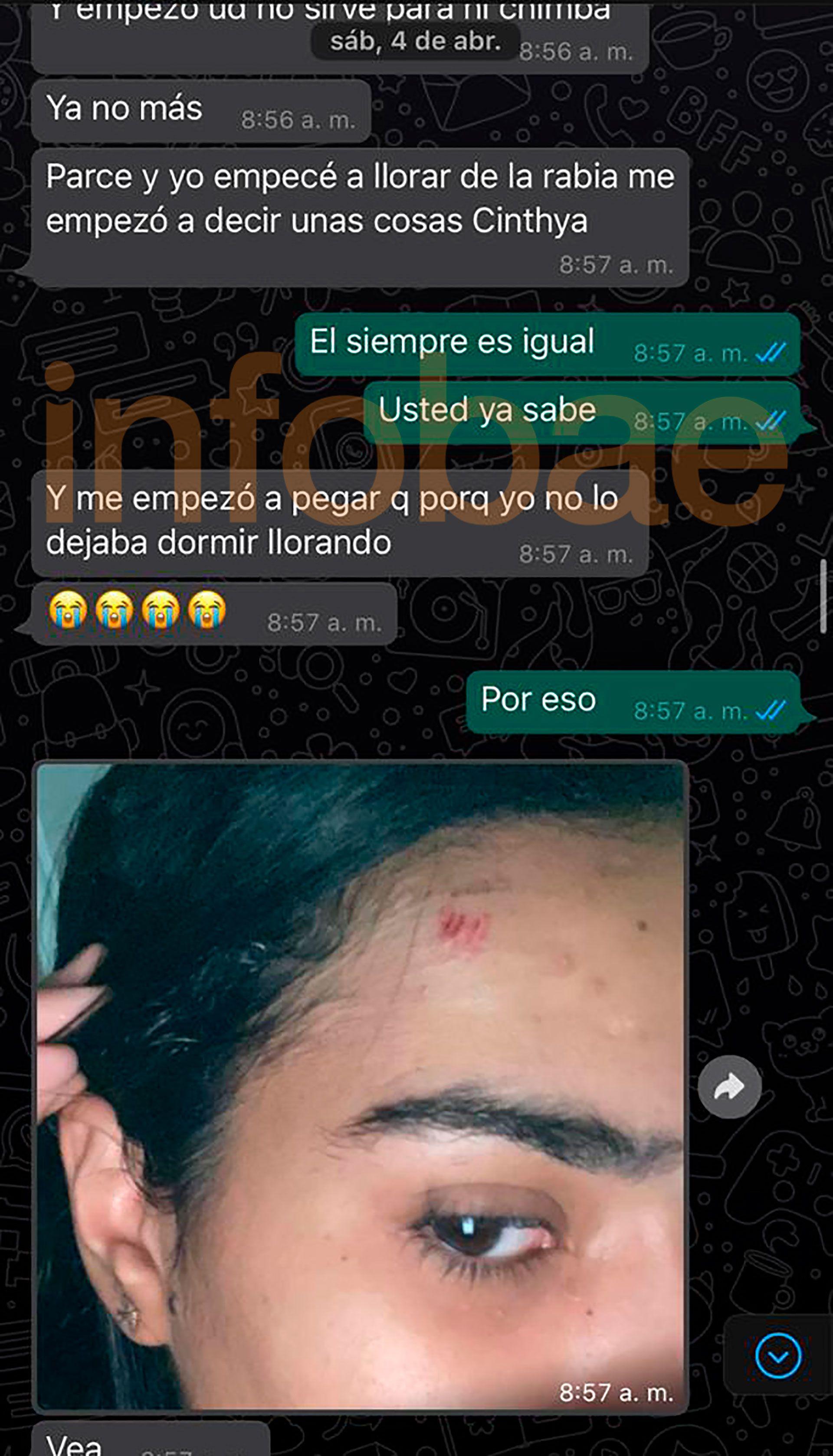 Parte de los chats entre Villa y su ex cuñada que la defensa de Daniela Cortés entregó a la Justicia