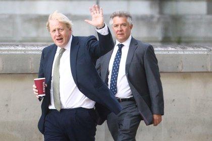 Boris Johnson en su llegada a Westminster (Reuters)