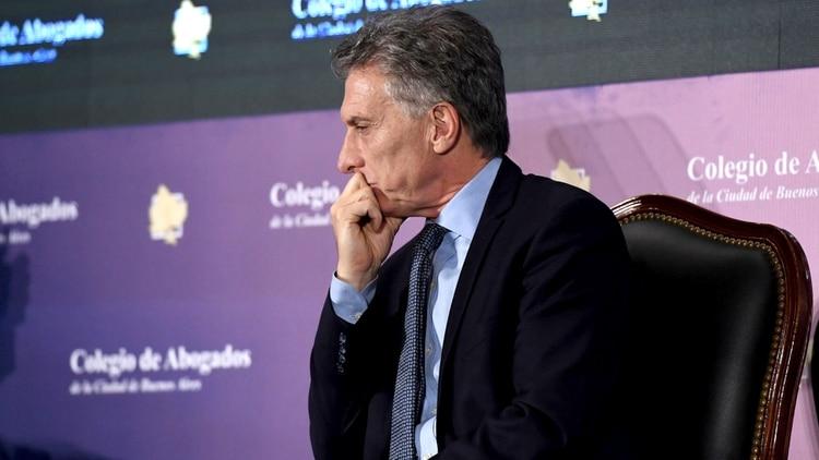 Mauricio Macri expresó a Bullrich su solidaridad y su respaldo político, ante el vídeo deep fake posteado en las redes sociales, (Maximiliano Luna)