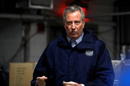 El alcalde de Nueva York, Bill De Blasio. La ciudad es el epicentro del brote en EEUU (REUTERS/Andrew Kelly/archivo)