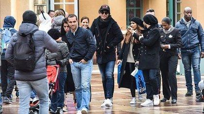Junto a Ronaldo y Georgina Rodriguez viajaron Ricardo Regufe y Miguel Paixao, amigos del futbolista, que también fueron con sus novias