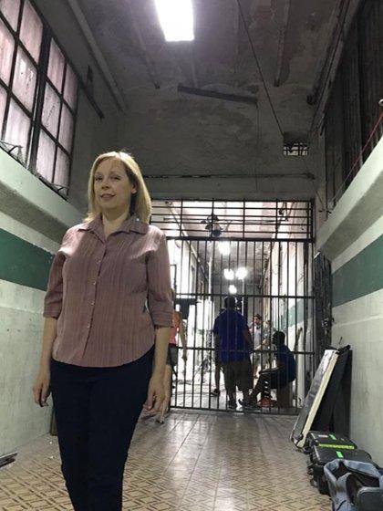 """La actriz tenía 52 años y estaba internada en la Trinidad de Palermo (Foto: durante las grabaciones de """"El Marginal 2"""" en la ex cárcel de Caseros)"""